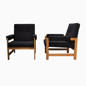 Mid-Century Upholstered Chairs, Set of 2