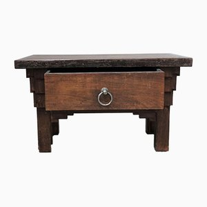 Small Antique French Butcher Table