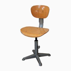Chaise d'Atelier Brevets Industrielle Vintage