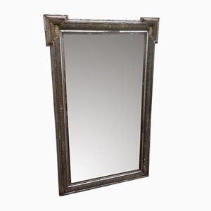 Grand Miroir Doré Antique Décoratif Très Effet Décoratif, France