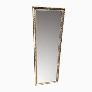 Antiker Französischer Dekorativer Spiegel mit Geschnitztem Holz & Gesso Originalrahmen