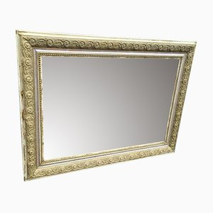 Antique French Carved Wood & Gesso Original Mirror