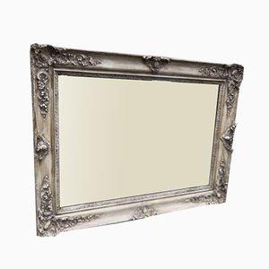 Französischer Antiker Französischer Spiegel mit Gewand aus Geschnitztem Holz & Gesso Stil