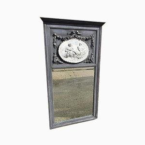 Miroir Antique en Bois Sculpté et en Gesso Peint, France