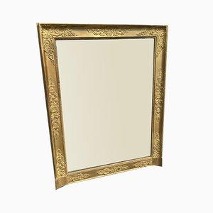 Antiker französischer Spiegel aus vergoldetem Holz und vergoldetem Louis Philippe Schrank aus geschnitztem Holz