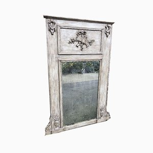 Grand Miroir Trumeau Antique en Bois Sculpté et en Dorure de Gesso, France