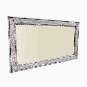 Antiker Französischer Geschnitzter Holz Spiegel