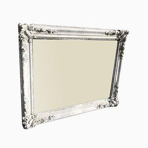 Antiker französischer Spiegel aus bemaltem Holz & Gesso Skulptur aus Louis XVI