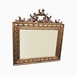 Miroir Twist Antique en Bois Courbé et Gesso Doré, France