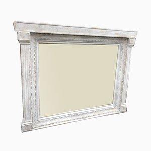 Großer antiker englischer hochdekorativer Spiegel aus Geschnitztem Holz & Gesso Lackiertem Tabernakel