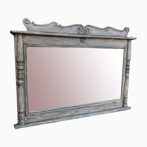 Antique French Painted Carved Wood Mirror