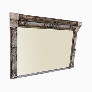 Grand Miroir Antique en Bois Courbé et Gesso Peint, Angleterre