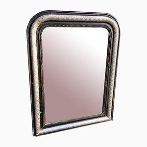 Miroir 19ème Siècle avec Miroir Noir et Argent, France