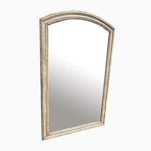 Grand Miroir 19ème Siècle Antique en Bois Courbé et Gesso Peint