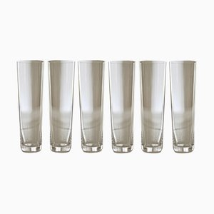 Crystal Champagne Glasses by Deborah Ehrlich, Set of 6