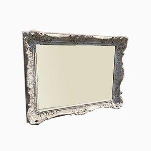 Antiker bemalter englischer Spiegel aus geschnitztem Holz