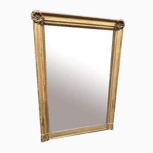 Large Antique French Gilt Carved Wood & Gesso Mirror