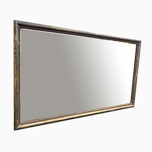 19th Century French Carved Wood & Gesso Original Silver/gilt Bistro Mirror