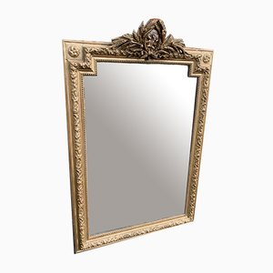 Antique French Gilt Carved Wood & Gesso Mirror