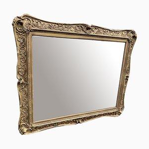 Antiker englischer vergoldeter Holz & Gesso Spiegel