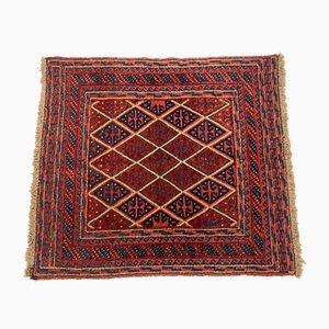 Vintage Afghan Square Wool Mashwani Rug 125x105 cm
