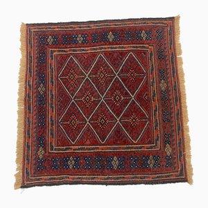 Vintage Afghan Square Wool Mashwani Rug 110x110 cm