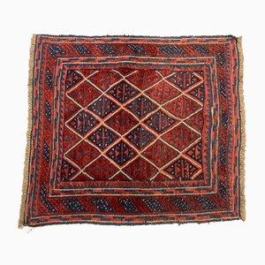 Vintage Afghan Square Wool Mashwani Rug 110x100