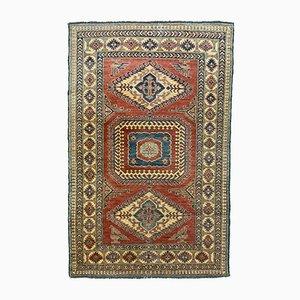 Tapis Kazak Taille Moyenne Tribal Bleu, Rouge, Beige, Afghanistan, 205x132