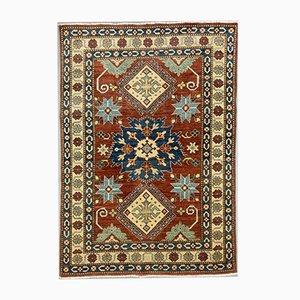 Gemusterter afghanischer Kazak Teppich in Blau, Rot, Beige 175x122 cm
