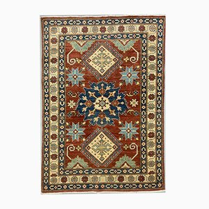 Vintage Afghan Kazak Medium Blue, Red, Beige Tribal Rug 175x122 cm