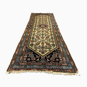 Vintage Middle Eastern Handwoven Wool Tribal Runner Rug 240 x 80 cm