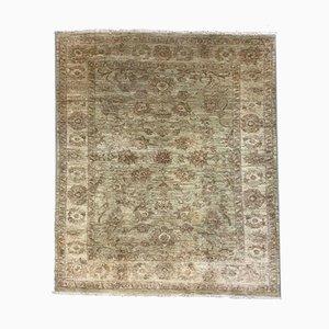 Handgemachter Afghanischer Viereckiger Handgewebter Ziegler Teppich 220x190