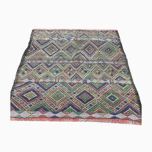 Tapis Kilim Vintage en Laine, Maroc 112x112 cm