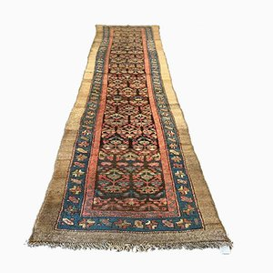 Vintage Malayer Vegetable Dye Woolen Handmade Tribal Runner Rug 340 x 85 cm