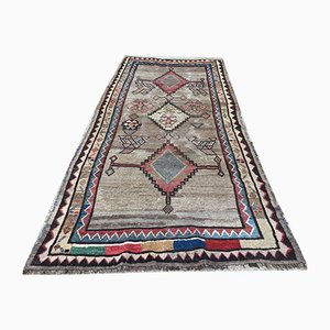 Antique Middle Eastern Handmade Natural Dye Wool Rug 244x121 cm