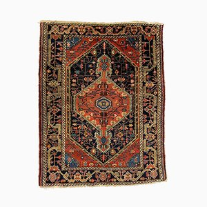 Small Antique Malayer Navy and Red Jozan Rug 144x110