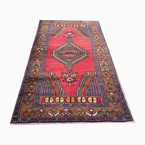Vintage Turkish Vegetable Dye Prayer Rug 195x112cm