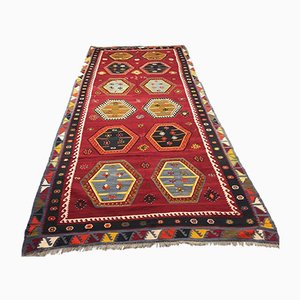 Antique Rustic Turkish Kilim Rug