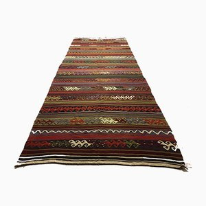Large Vintage Turkish Kilim Rug 420x154cm