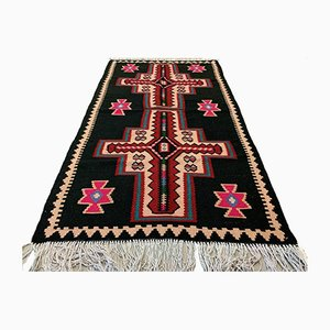 Vintage Turkish Medium Sized Shabby Kilim Rug 158x89 cm