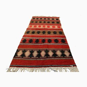 Vintage Turkish Medium Sized Shabby Kilim Rug 220x110 cm