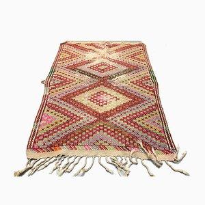 Vintage Turkish Shabby Wool Kilim Rug 147x102cm