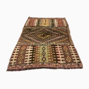 small Vintage Turkish Wool shabby Kilim Rug 115x87 cm