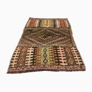 small Vintage Turkish Wool shabby Kilim Rug 115x87 cm