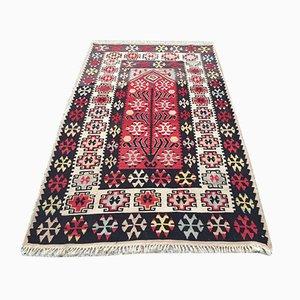 Vintage Turkish Wool Shabby Kilim Rug 180x108cm