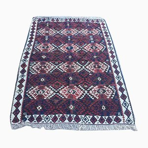 Antique Turkish Wool Shabby Kilim Rug 182x130cm