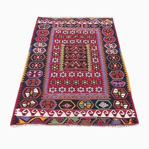 Vintage Turkish Shabby Wool Kilim Rug 140x105cm