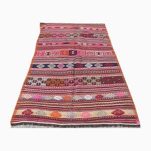 Vintage Turkish Shabby Wool Kilim Rug 209x125cm