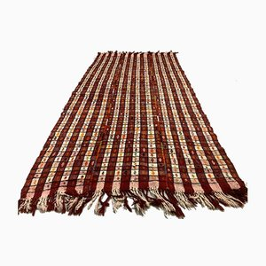 Grand Tapis Kilim Vintage en Laine, Turquie, 256x140 cm