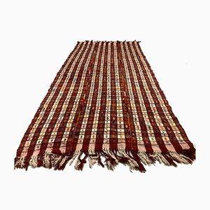 Großer türkischer Vintage Kelim Wollteppich mit schäbiger Basis, 256x140 cm